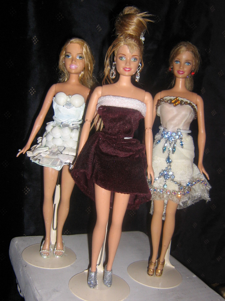 Christmas, Seashell and Jewel Barbies