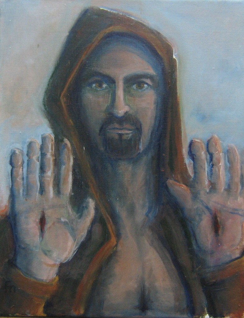 The Stigmata of Saint Francis (self portrait)